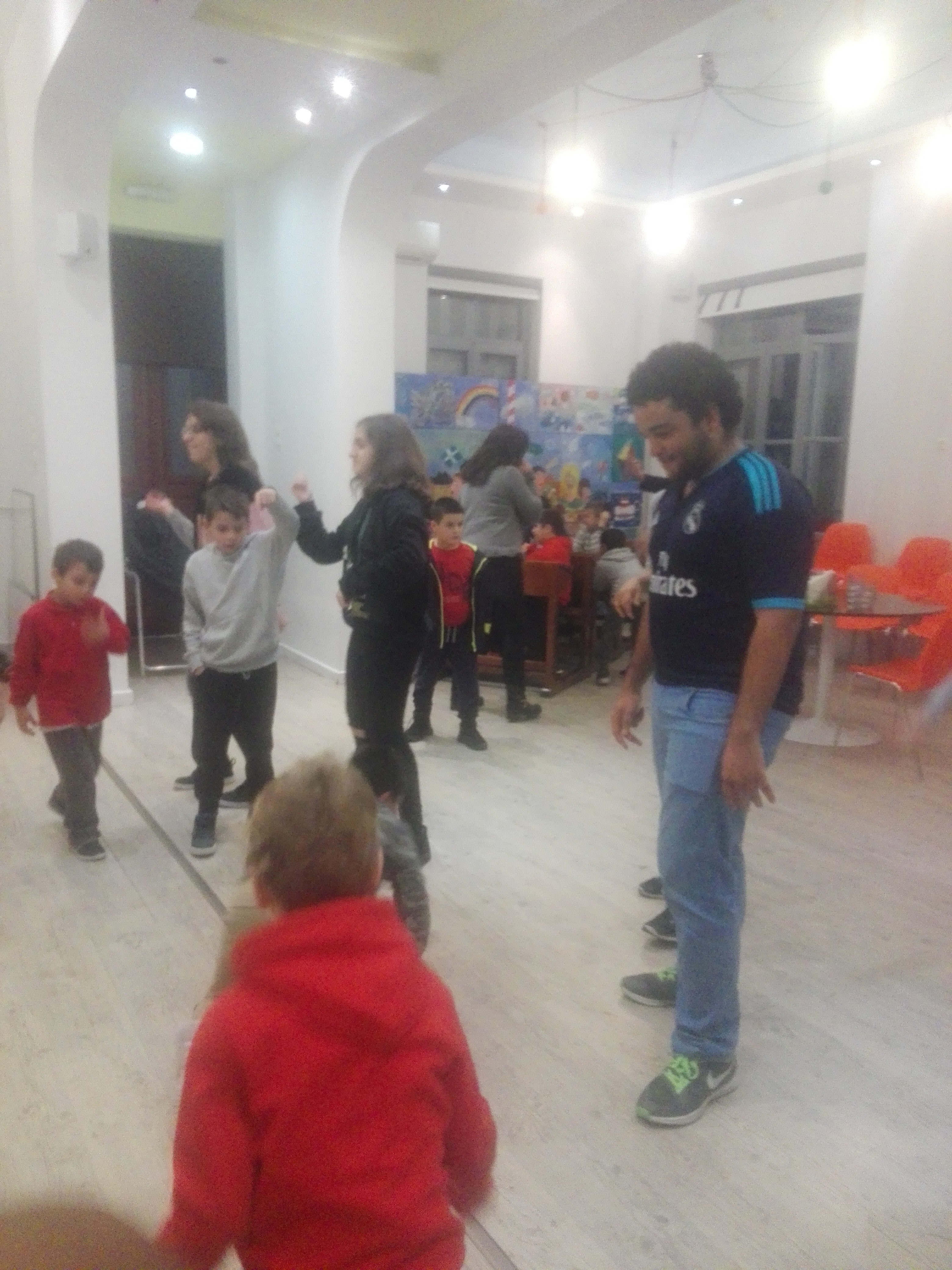 Dancing in Apostoli community center