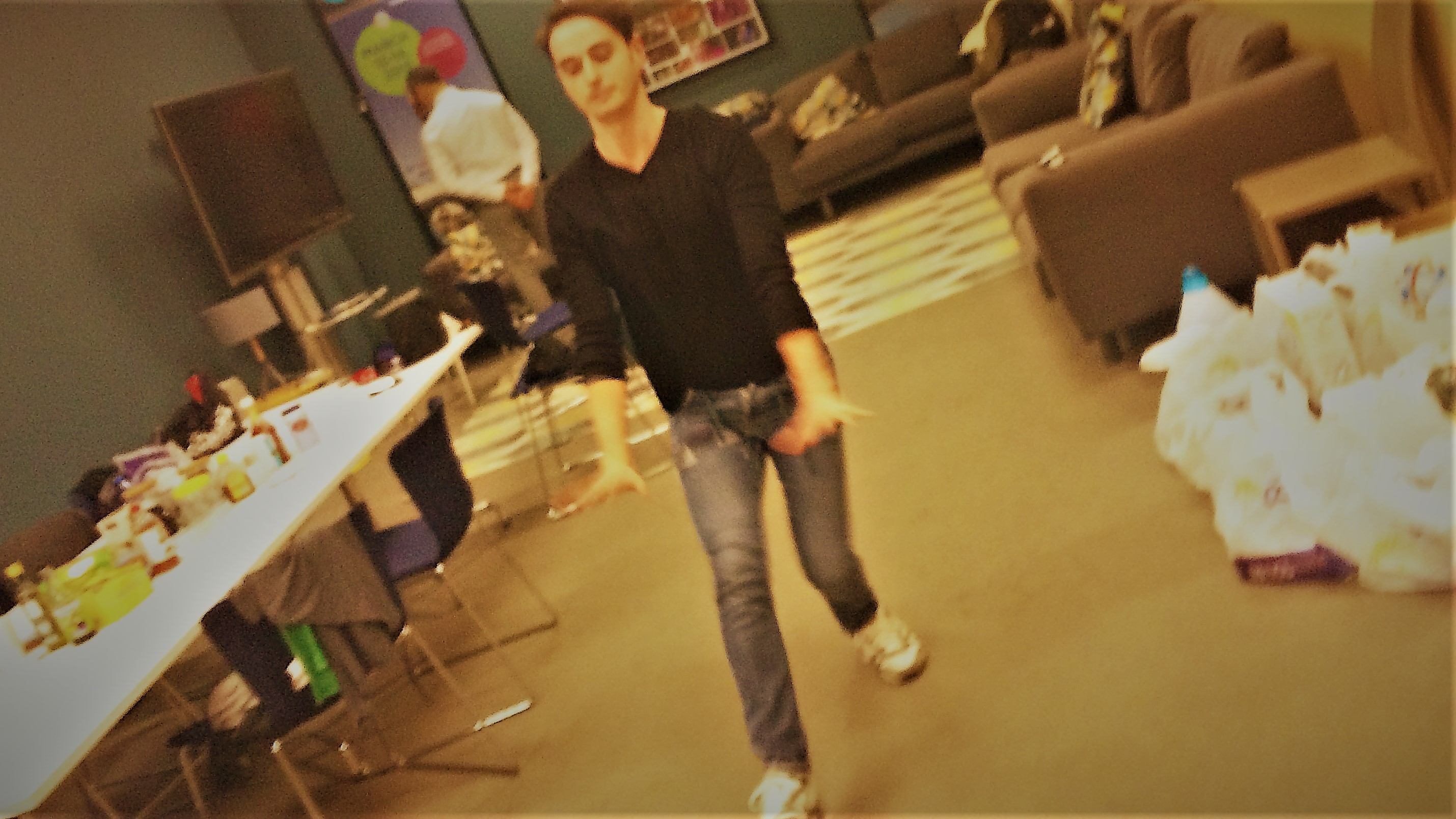 Taner showing us some moves after the interview